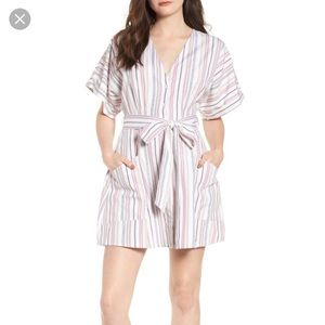 BP Button Front Striped Dress NWT